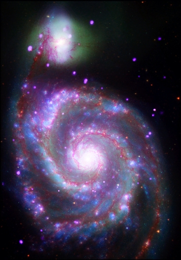 A spiral galaxy 31 million light years from Earth.